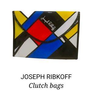 Joseph Ribkoff Mondrian Art patent clutch